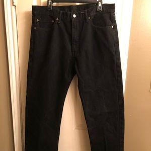 Men's Black Levi 505 38x32 Jean